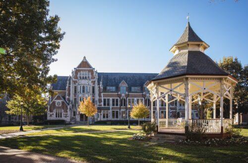 Photo of the front quad on Agnes Scott's campus